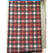 Multisquares polar fleece fabric material with anti pil
