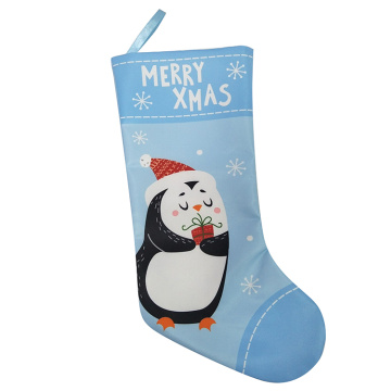 Christmas stocking with penguin pattern