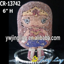 Fashion Custom Rhinestone Blonde Girl Crown