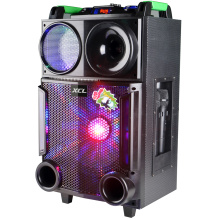 Portable amplifier trolley speaker outdoor with wireless mic