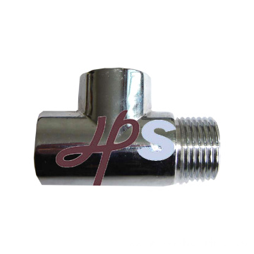 Brass Male Tee of Chrome for Heating System