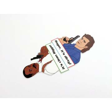 Lethal Weapon Dishwasher Magnet CLEAN DIRTY sign