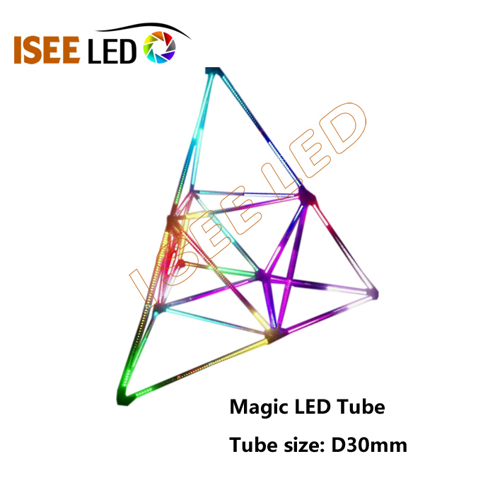 Opac Cover 360degree Decoration DMX 3D LED Tube