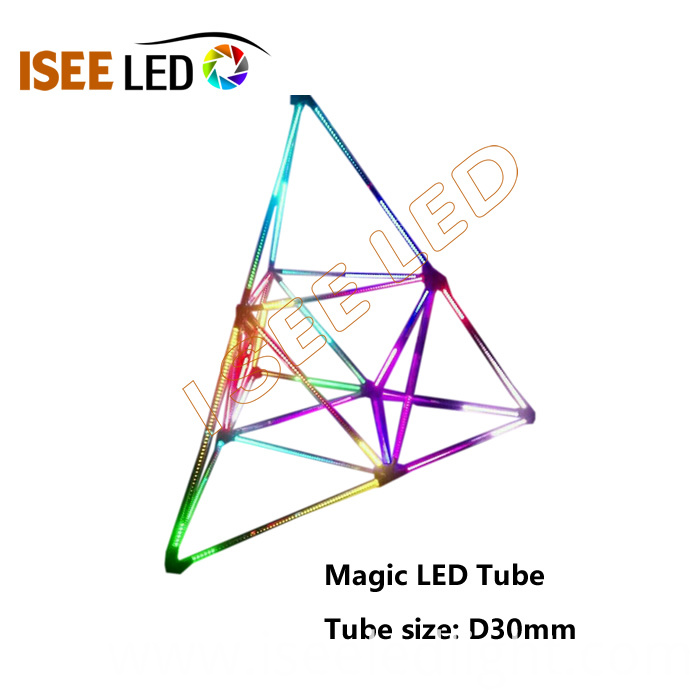 clear cover magic 3D LED tube