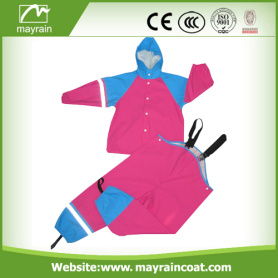 Colorful PU Kids Rainsuit