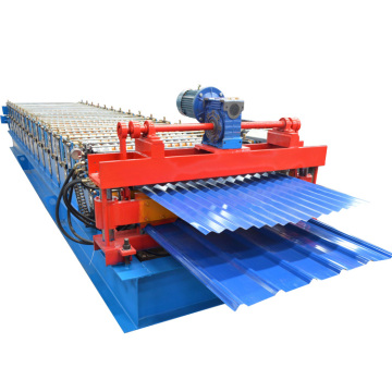 Double layer corrugated sheet metal roofing making machine