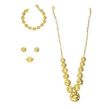 Perforated Figures Jewelry Set 22 K