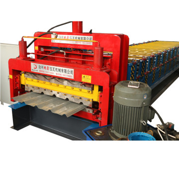 Roof panel double layer cold roll forming machine