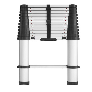 Aluminum telescopic ladder with  one-time fold