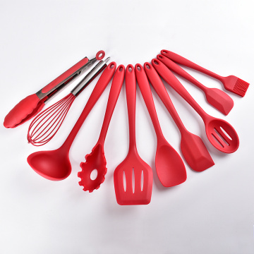 10 piece stainless steel silicone kitchen utensils sets
