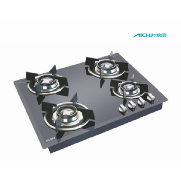Glen Auto Ignition Glass Hob 4 Burners