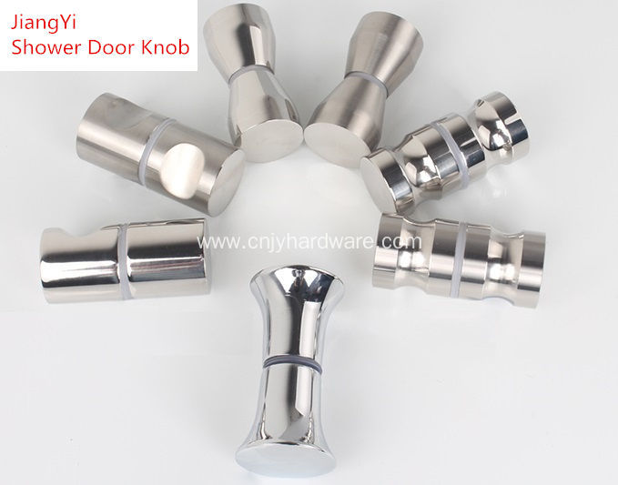 stainless steel bathroom glass shower door knob