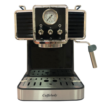 19 bar pump coffee maker with Pressure gauge