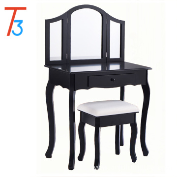 Black paulownia wood fashion atmosphere dressing table