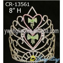 Customized for Snowflake Round Crowns Wholesale Rhinestone Bell Christmas Pageant Crowns supply to Antigua and Barbuda Factory