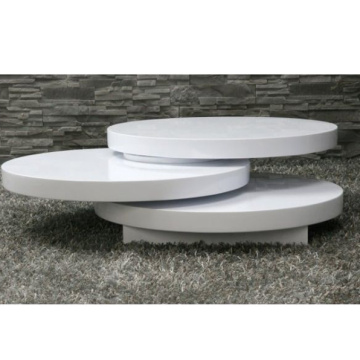 Round Coffee Table Rotating living room table