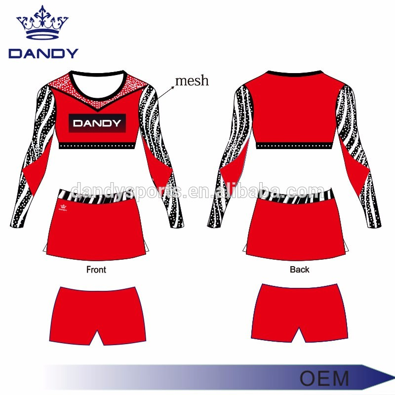 Rhinestone cheerleading uniform