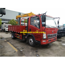 HOWO 2ton Truck mounted Telescopic Boom Cranes