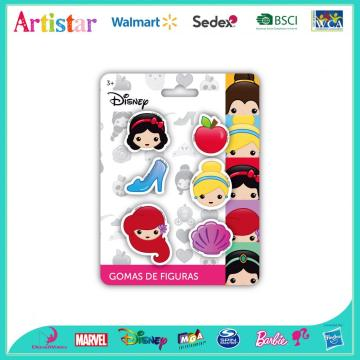 DISNEY PRINCESS 6 pack of mini erasers