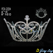 Wholesale Round Beauty Queen Crowns For Sale
