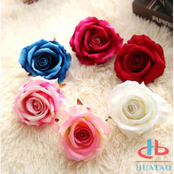 New Design With Rose Artificial Silk Flower Wall