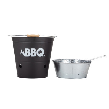 Camping hiking portable BBQ bucket