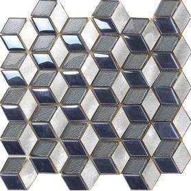 Fashion Blue Crystal Glass Mosaic Tile