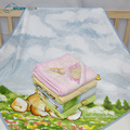 Printed Double Gauze Wrap Terry kid Blanket