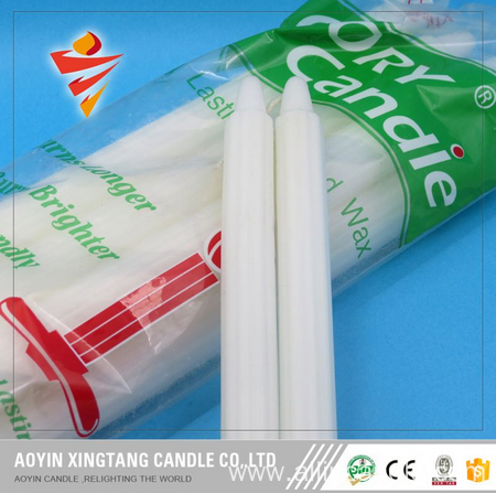 Household Fluted White Candle Exported to Johannesburg
