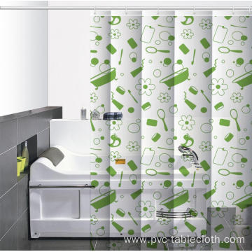 Waterproof Bathroom printed Shower Curtain Uses