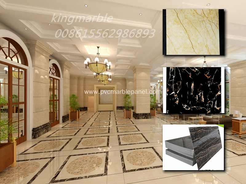New Decoration Materials PVC Marble Wall Sheet