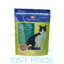 Cat Food Packaging Bag With Custom Zipper
