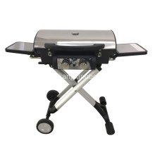 factory low price for Foldable Gas Grill Aluminum Die-Cast Alloy 2 Burners Gas Grill export to France Factory