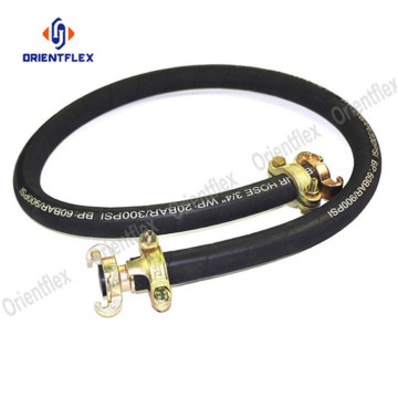 Orange robust air compressor whip hose