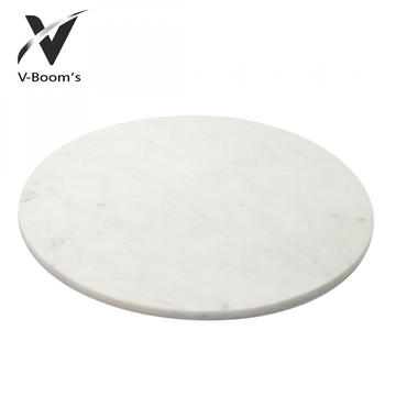 Personlized Products for Marble Chopping Board Round Shape Marble Cheese Cutting Board export to Guadeloupe Factories