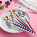 Multicolor Mirror Polish Stainless Steel Spoon
