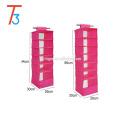 Fabric hanging clothes storage organizer closet with drawer for 6 shelf
