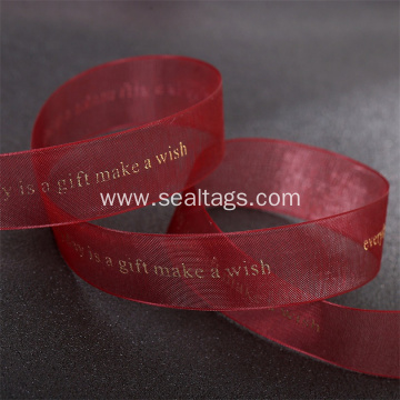 Organza ribbon for flower shop