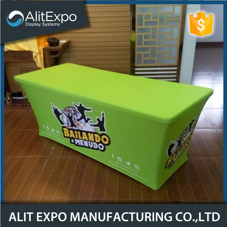 Trade show promotion table covers with logo