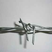 25kg/roll galvanized barbed wire