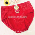 AS-5829 OEM wholesale red cotton panty with pocket lace underwear