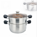 18-28cm 2Layer Stainless Steel Steamer Pot Soup Pot