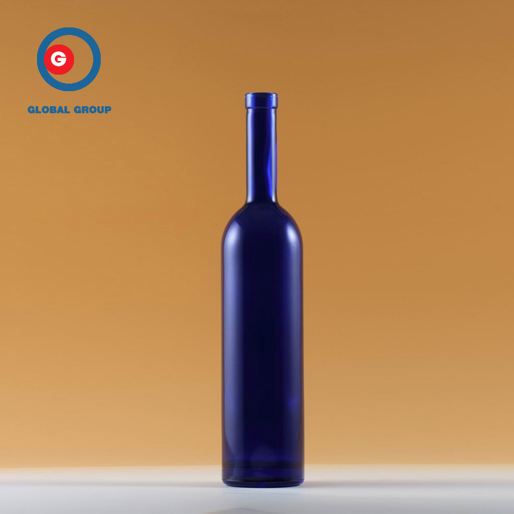 Empty Round Glass Bottle Beautiful Wine Bottle