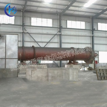 Rotary palm shell charcoal kiln