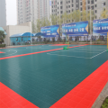 Outdoor movable tennis court tile