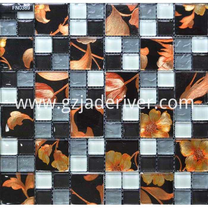 Mixed 10x10 Glass Mosaic Tiles Sheets For