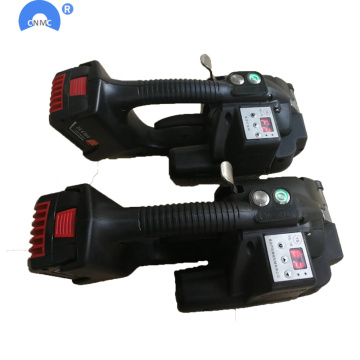 Automatic polyester plastic strapping tool
