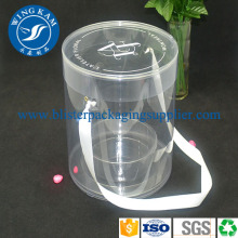 Plastic Transparent Cylinder Packaging Vases Bulk