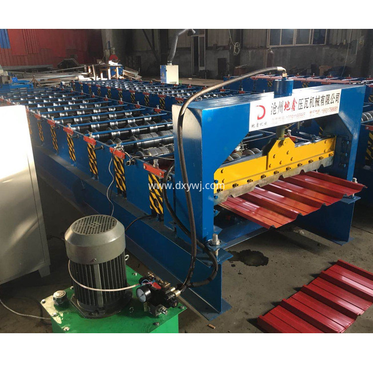 Trapezoidal Corrugated Roofing Sheet Profiling Roll Forming Machine