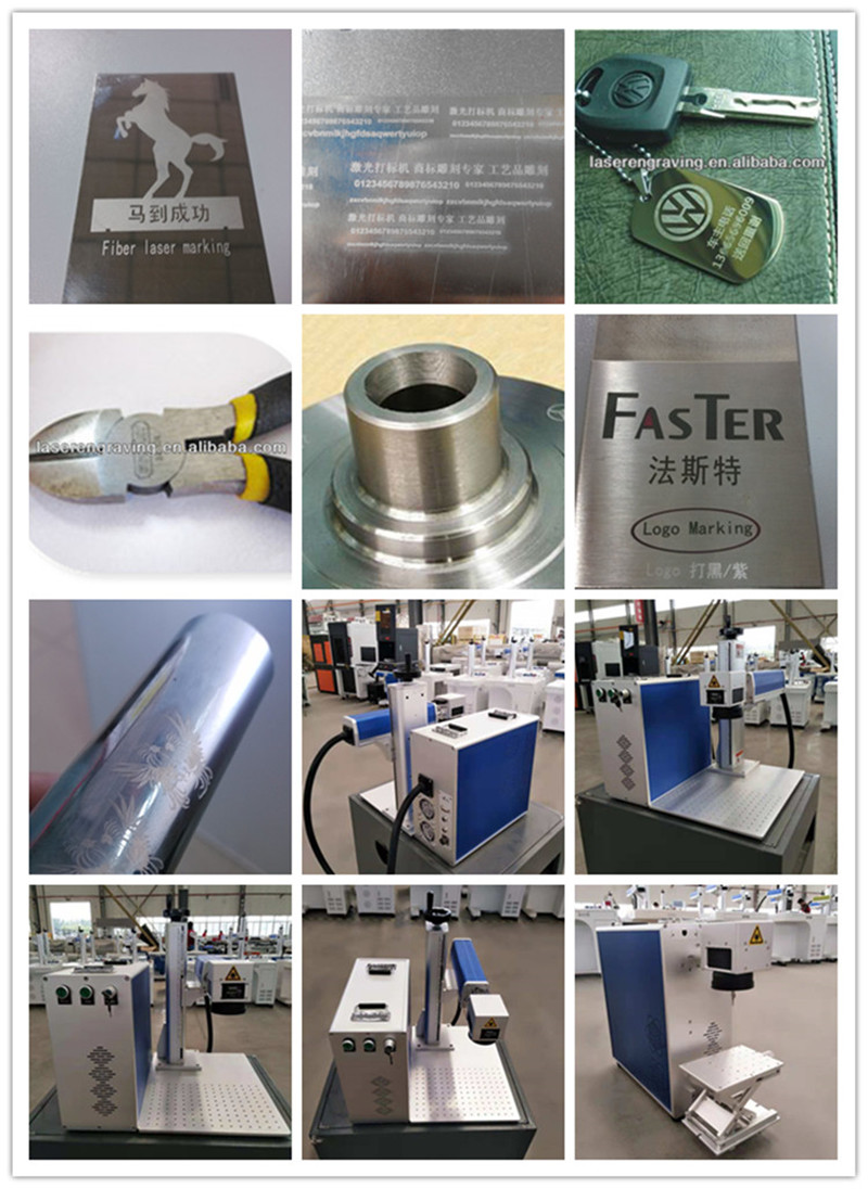 metal engraving 30w fiber laser marking machine